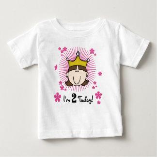 ブルネットのプリンセスの第2誕生日 ベビーTシャツ