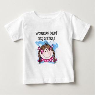 ブルネットの世界で最も最高のな姉のTシャツ ベビーTシャツ