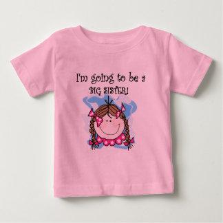 ブルネットの未来の姉のTシャツおよびギフト ベビーTシャツ