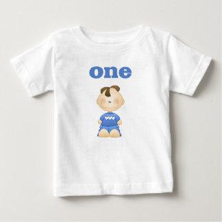 ブルネットの男の子1 ベビーTシャツ