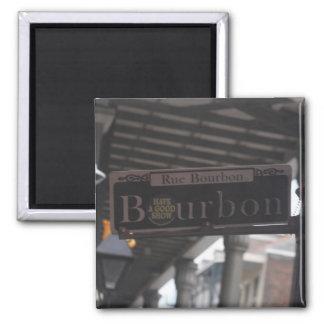 ブルボン道路標識の磁石 マグネット