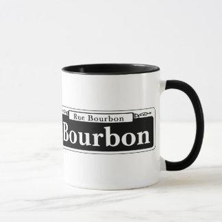 ブルボンSt.のニュー・オーリンズの道路標識 マグカップ