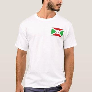 ブルンディの旗および地図のTシャツ Tシャツ