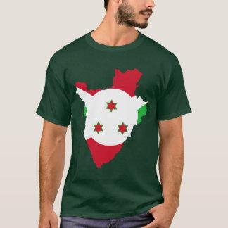 ブルンディの旗の地図 Tシャツ