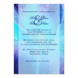 ブルーオーキッドの結婚式招待状 カード