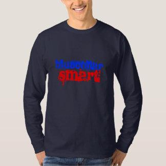 ブルーカラーの頭が切れる Tシャツ
