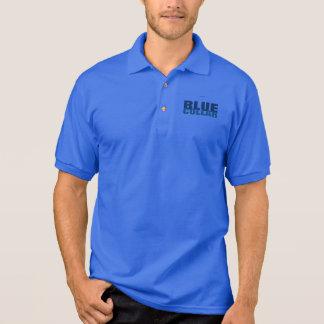 ブルーカラー ポロシャツ