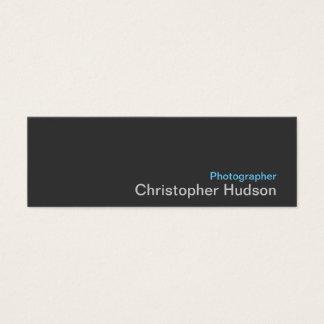 ブルーグレーのカメラマンの標準的な細い名刺 スキニー名刺