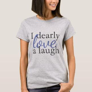 ブルーグレーのワイシャツのジェーンAustenの引用文 愛笑い声 Tシャツ