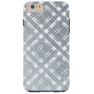 ブルーグレーの格子縞の金属グラデーション iPhone 6 PLUS タフケース