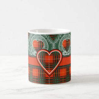 ブルースのスコットランド人のタータンチェック コーヒーマグカップ