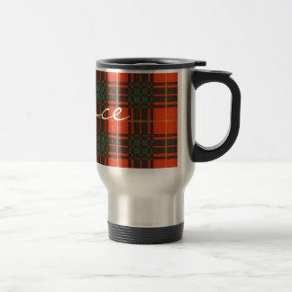 ブルースのスコットランド人のタータンチェック トラベルマグ