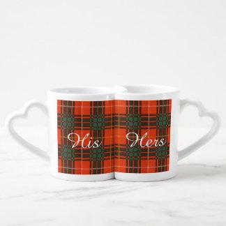 ブルースの一族の格子縞のスコットランド人のタータンチェック ペアカップ