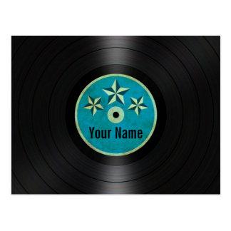 ブルースターの名前入りなレコードのアルバム ポストカード