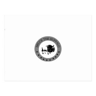 ブルース水牛の白黒ロゴ ポストカード
