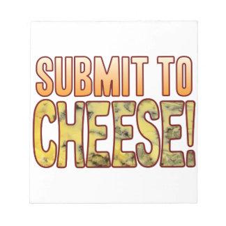 ブルーチーズに堤出して下さい ノートパッド