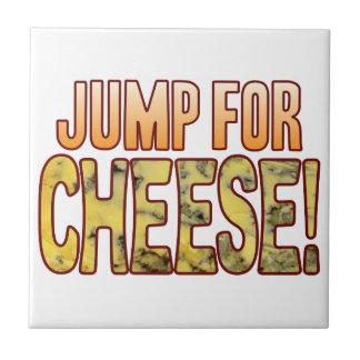 ブルーチーズのために跳んで下さい タイル