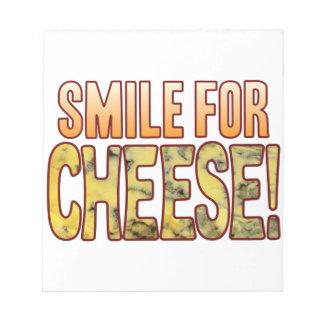 ブルーチーズのためのスマイル ノートパッド