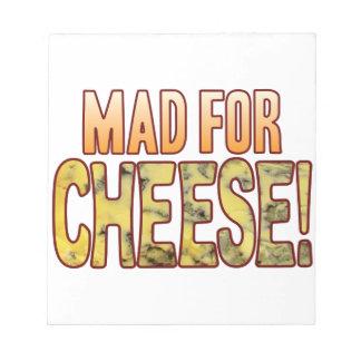 ブルーチーズのための不機嫌 ノートパッド
