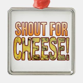 ブルーチーズのための叫び メタルオーナメント
