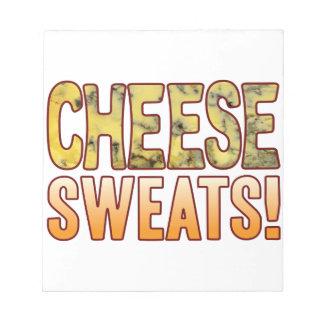 ブルーチーズを発汗させます ノートパッド