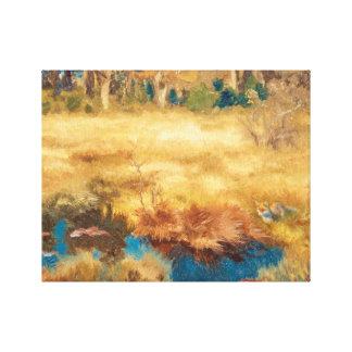 ブルーノLiljefors -キツネとの秋の景色 キャンバスプリント
