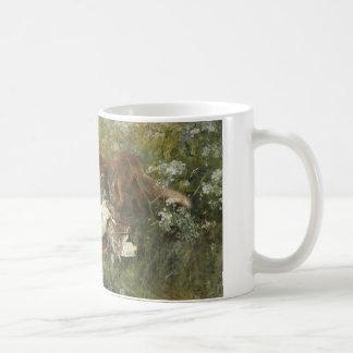 ブルーノLiljefors -キツネ家族 コーヒーマグカップ