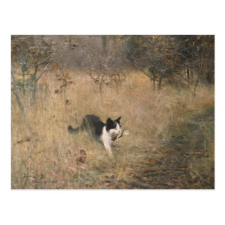 ブルーノLiljefors -猫の鳥の狩り ポストカード