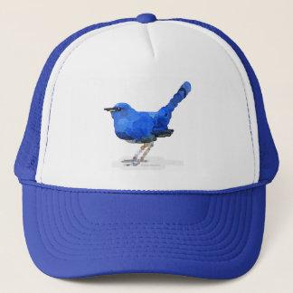 ブルーバードの水彩画のトラック運転手の帽子 キャップ