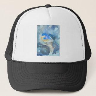 ブルーバードの水彩画の芸術 キャップ