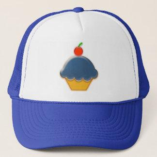 ブルーベリーおよびさくらんぼのカップケーキの芸術 キャップ