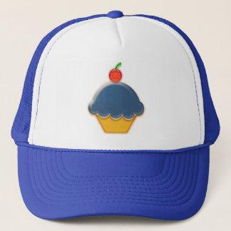 ブルーベリーのカップケーキの芸術 キャップ
