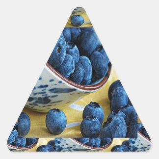 ブルーベリーのシェフの健康食の料理サラダ 三角形シール