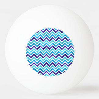 ブルーベリーのシェブロンのストライプなジグザグ形のピンポン球 卓球ボール