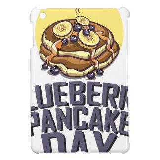 ブルーベリーのパンケーキ日-感謝日 iPad MINIケース