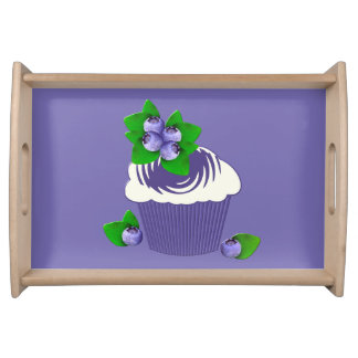 ブルーベリーのマフィンの紫色 トレー