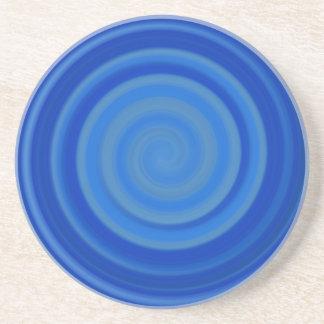 ブルーベリーの青のレトロキャンデーの渦巻 コースター