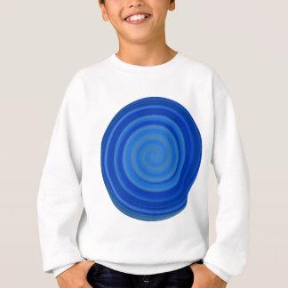 ブルーベリーの青のレトロキャンデーの渦巻 スウェットシャツ