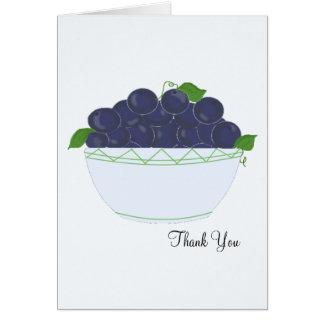 ブルーベリーは感謝していしています カード