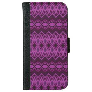 ブルーベリーは縞で飾ります iPhone 6/6S ウォレットケース