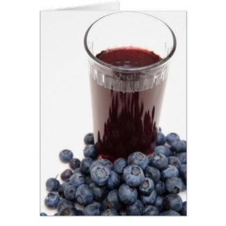 ブルーベリージュース カード