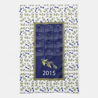 ブルーベリー2015のカレンダーの台所ふきん キッチンタオル