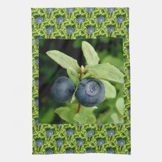 ブルーベリー、スノキ属のovalifolium キッチンタオル