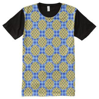 ブルーベリー・パイのデザートのグルメパターンパン屋のノベルティ オールオーバープリントT シャツ