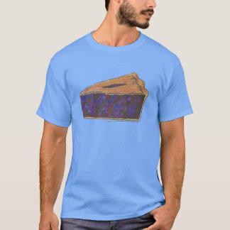 ブルーベリー・パイの切れの食糧デザートフルーツパイティー Tシャツ