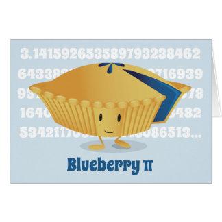 ブルーベリーPi日 の挨拶状 カード