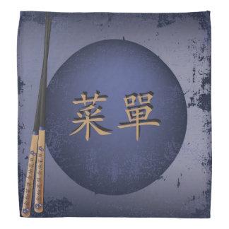 """ブルームーンおよびshopsticks """"メニュー""""バンダナ バンダナ"""