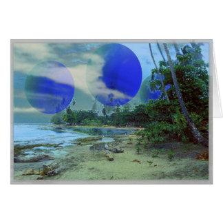 ブルームーンのビーチ カード