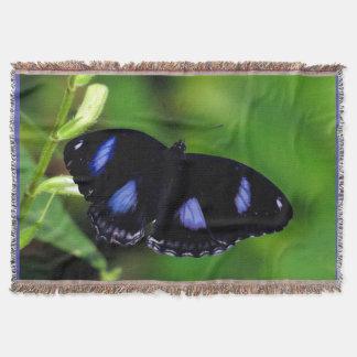 ブルームーンの蝶素晴らしいEggfly スローブランケット