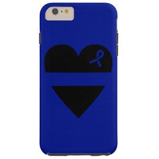 ブルーラインハートのiPhone 6のプラスの場合を薄くして下さい Tough iPhone 6 Plus ケース